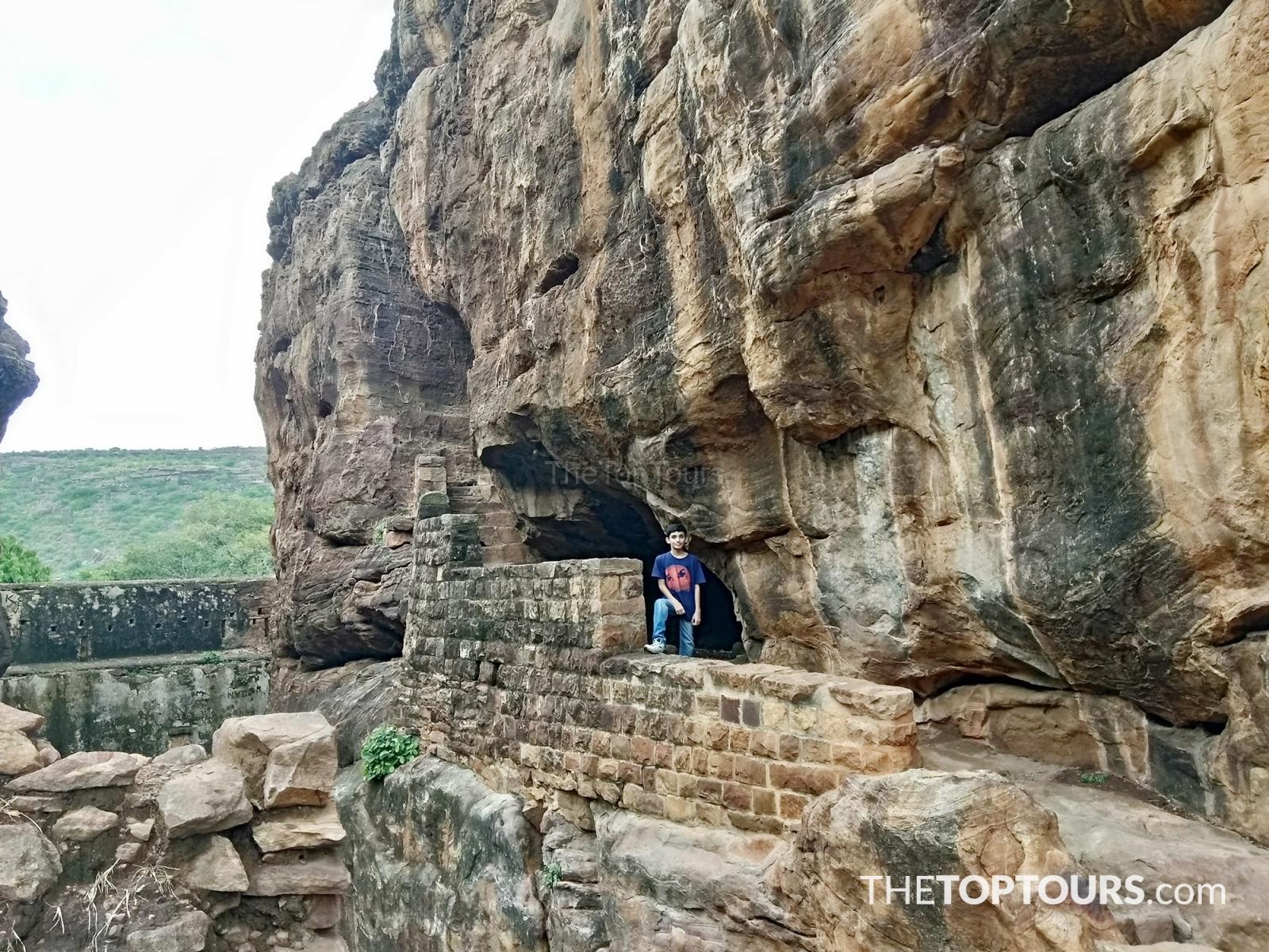 Badami Cave Temples 6th Century Karnataka, India