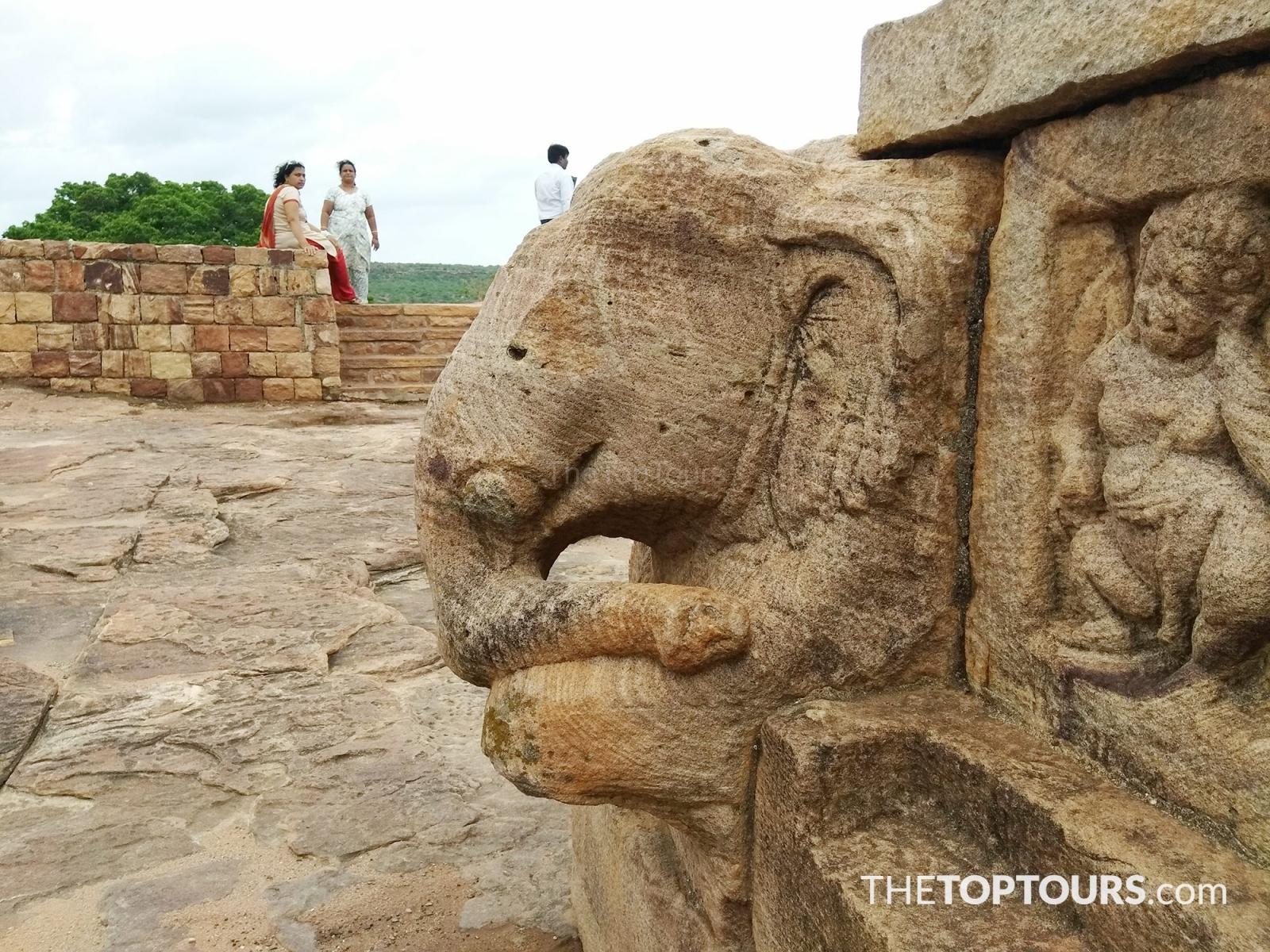 Badami Fort Ancient Elephant Architecture