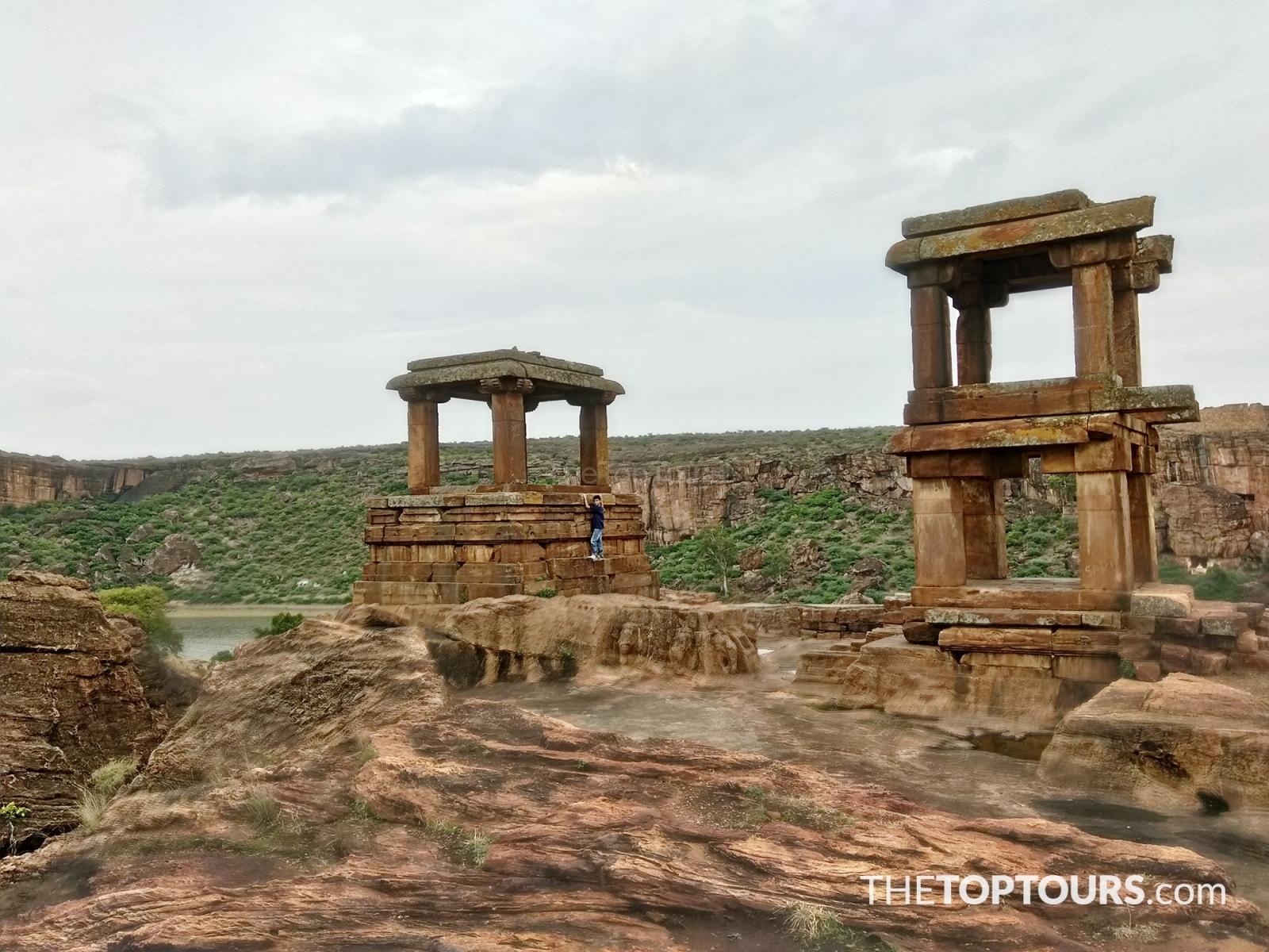 Badami Fort Ancient Stone Art Alignment