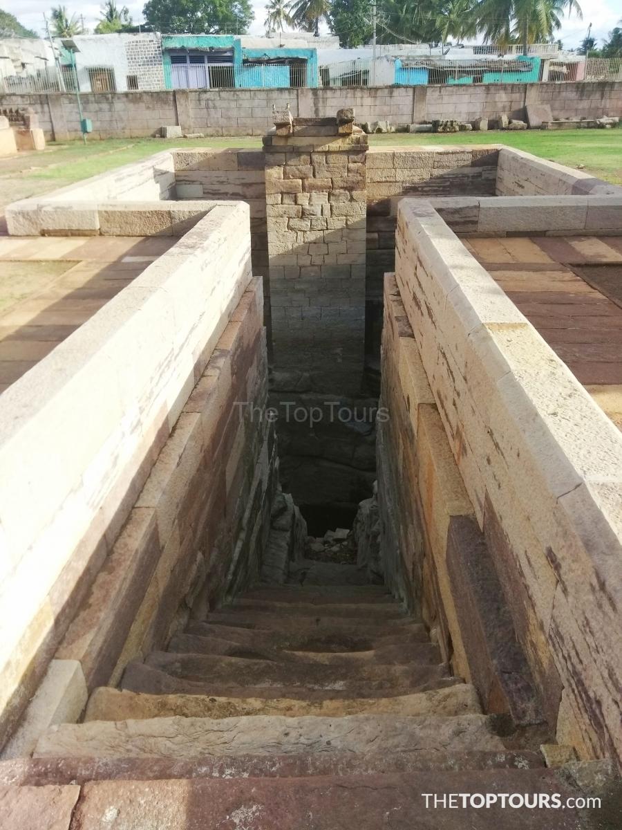 Underground Steps Badami Fort, Aihole