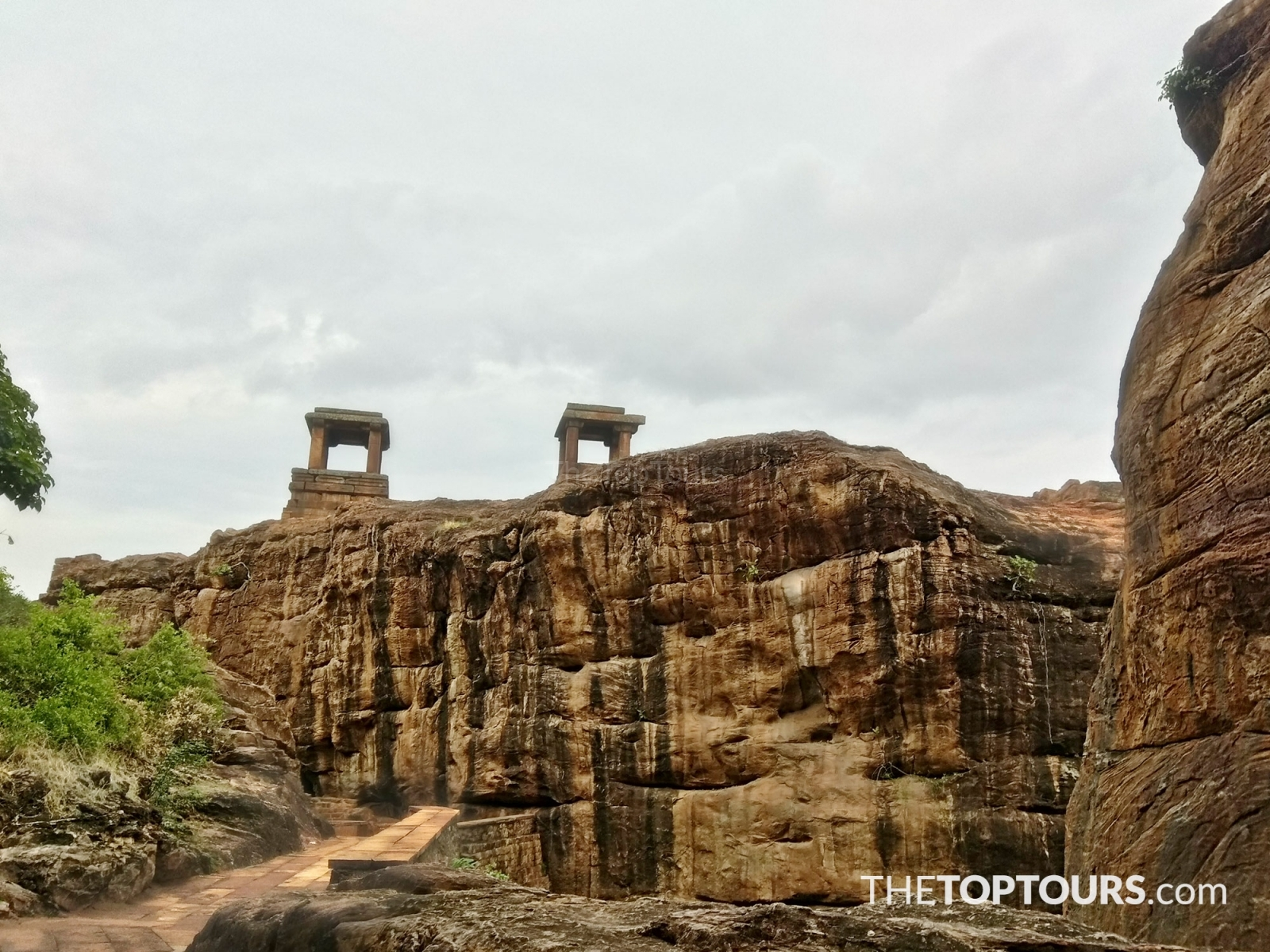 Areal View at Badami in Karnataka