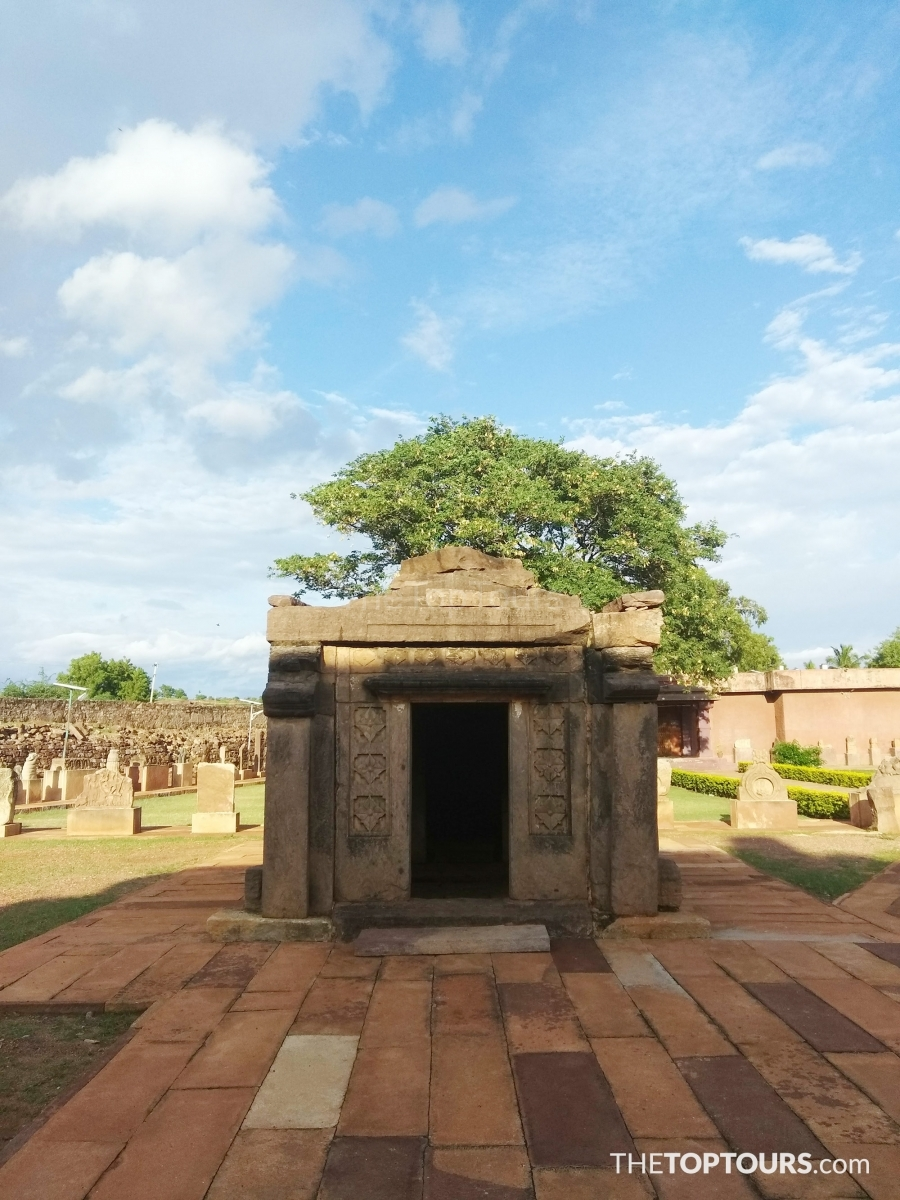 Old temple near Badami Fort, Karnataka