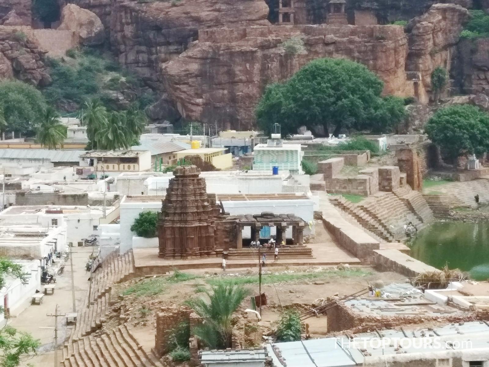 Yallamma Temple, Birds Eye View of Badami, Karnataka