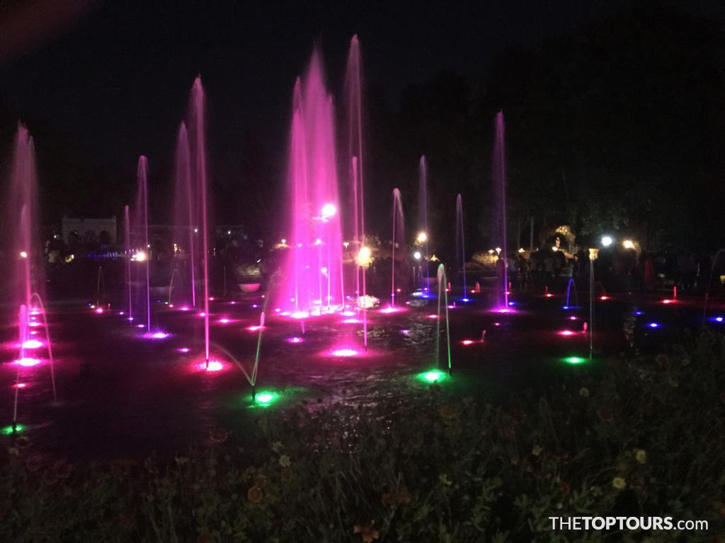 Beautiful Fountains in Brindavan Gardens, Karnataka