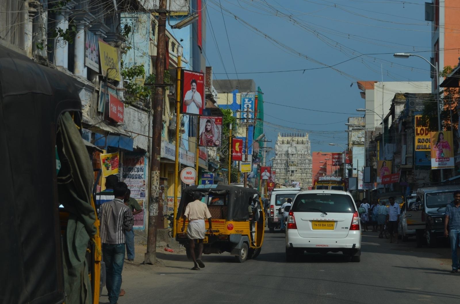 Street View of Arulmigu Ramanathaswamy Temple Rameshwaram Tamilnadu