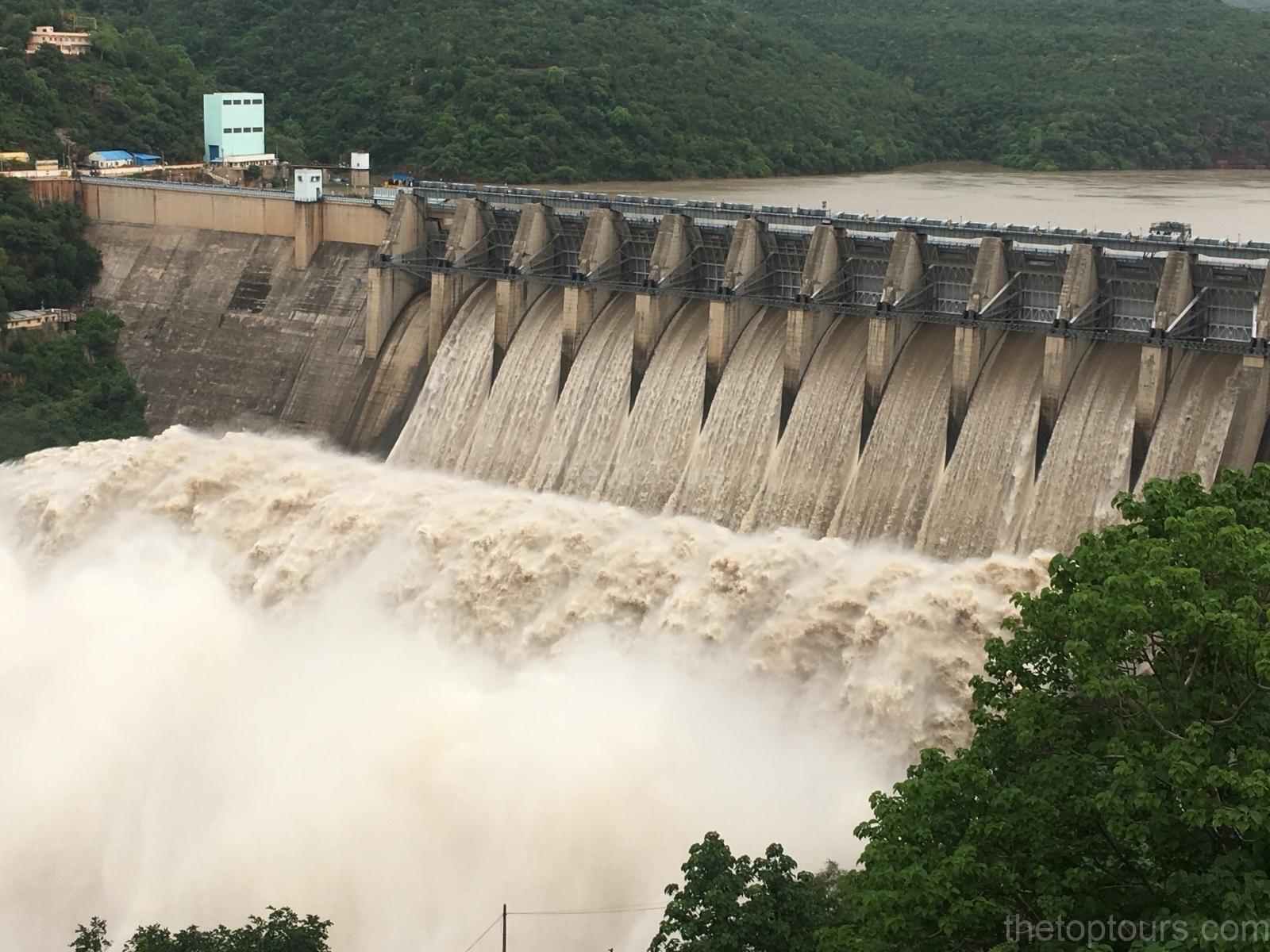 Srisailam  Reservoir  in Kurnool District, Andhra Pradesh