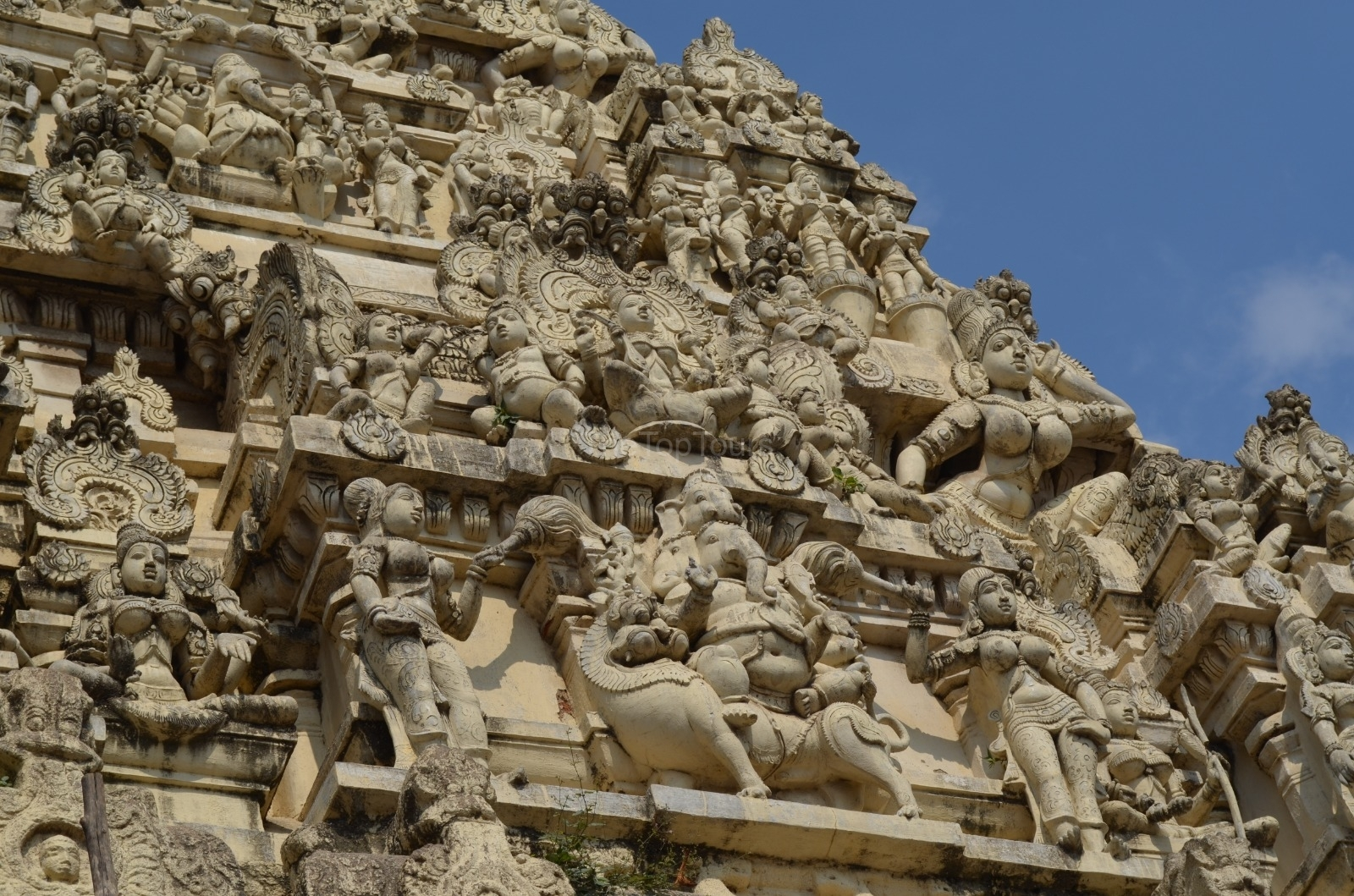Ekambareswarar Temple Gopuram of Ancient Hindu Temple Kanchipuram, Tamil Nadu