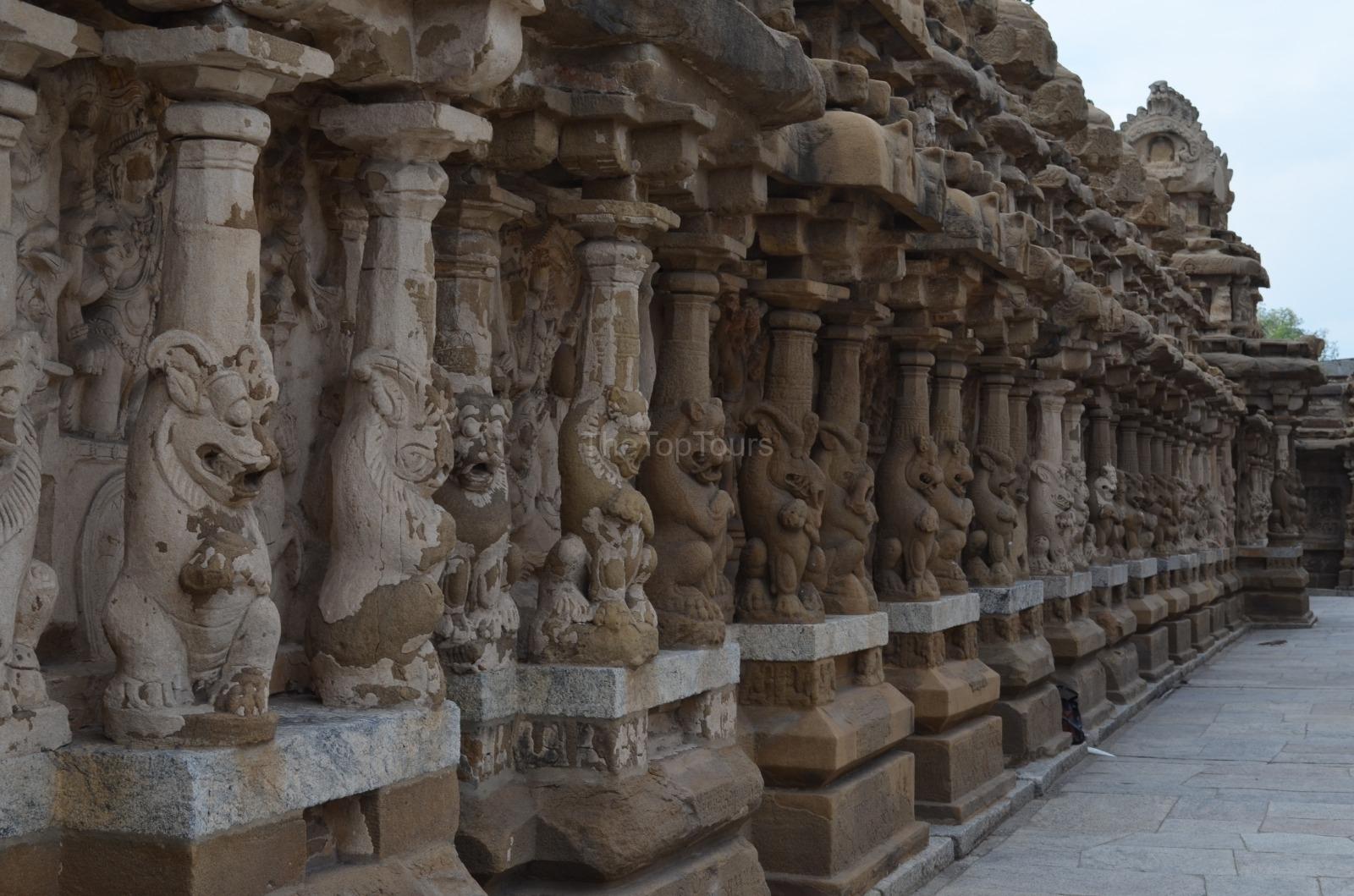 Kailasanathar Temple Sculpture Kanchipuram, Tamil Nadu