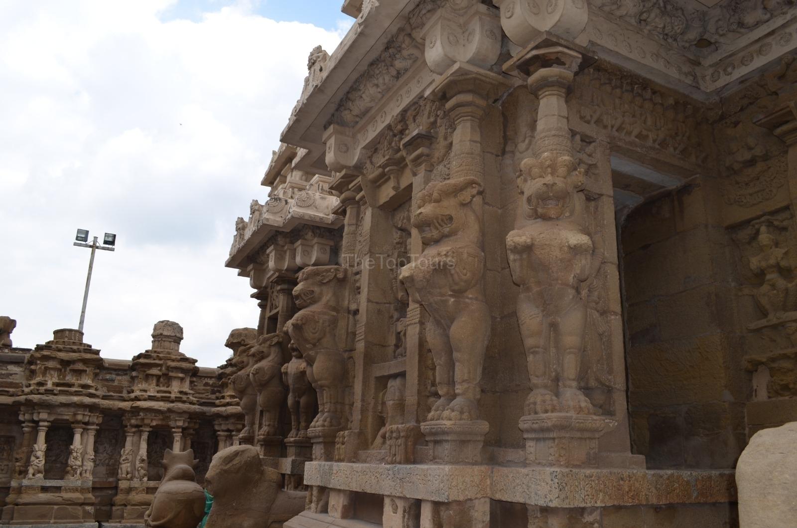 Kanchi Kailasanathar Temple Sculptures