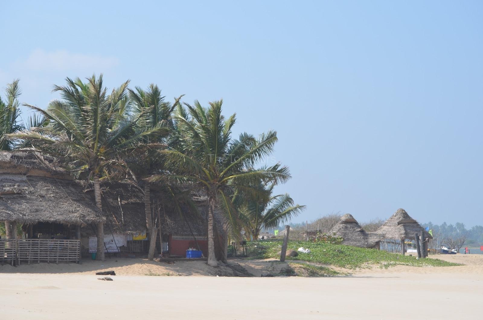 Thoothukudi Beach Beautiful Sea Shore With Coconut Trees