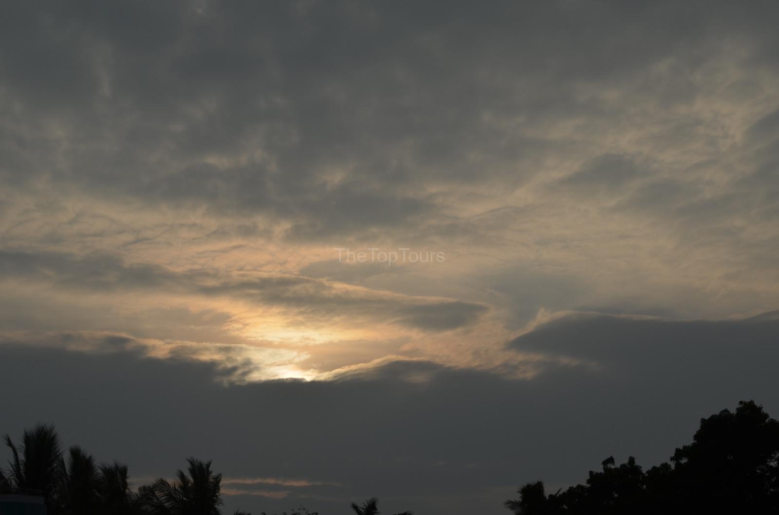 Madurai Cloudy Sky Sunset Beautiful Nature