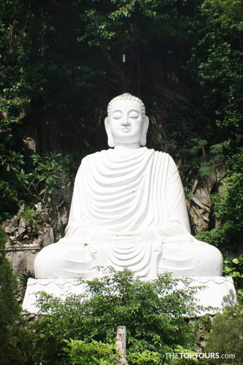 Giant Buddha Statue in Marble Mountains Near Da Nang , Vietnam