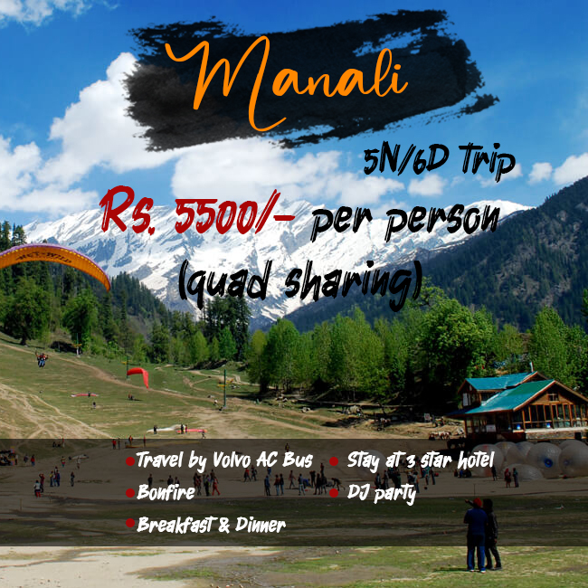 6 Days & 5 Nights Manali Tour Package