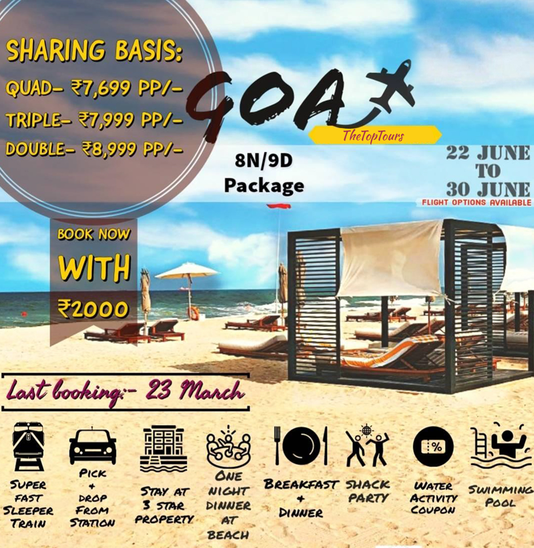 9 Days & 8 Nights Goa Package