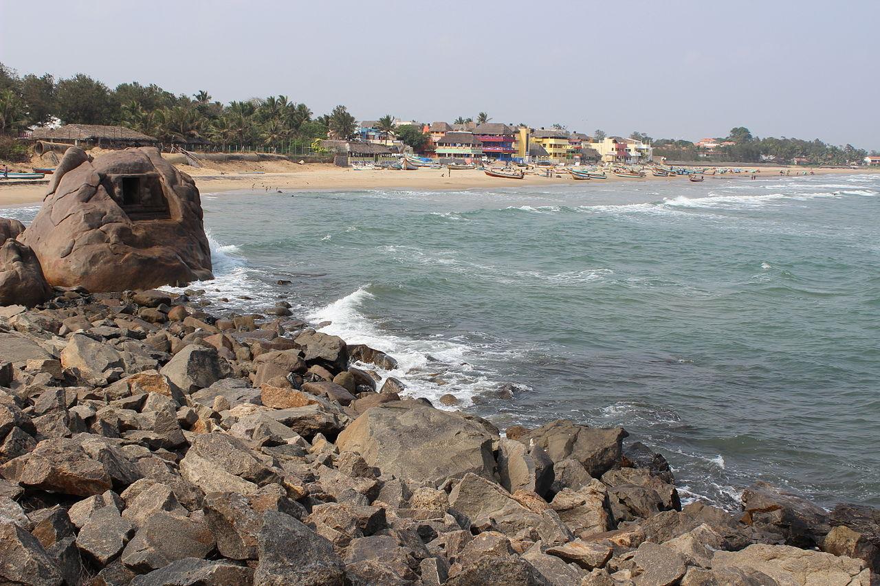 About Mamallapuram Beach, Mamallapuram, Tamilnadu