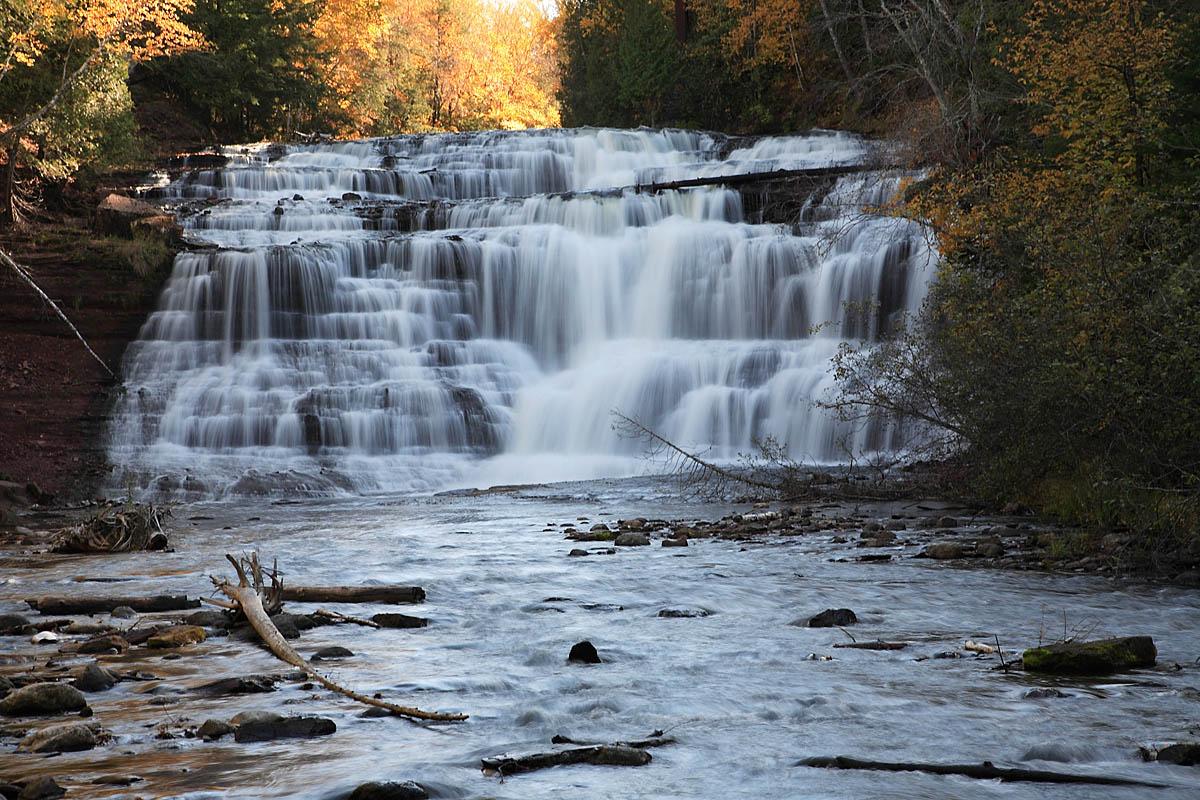 Amazing Waterfalls in Michigan-Agate Falls Scenic Site