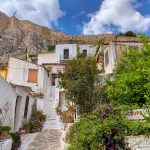 Anafiotika Neighborhoods - Scenic Town of Athens with Acropolis Mountain On The Backside