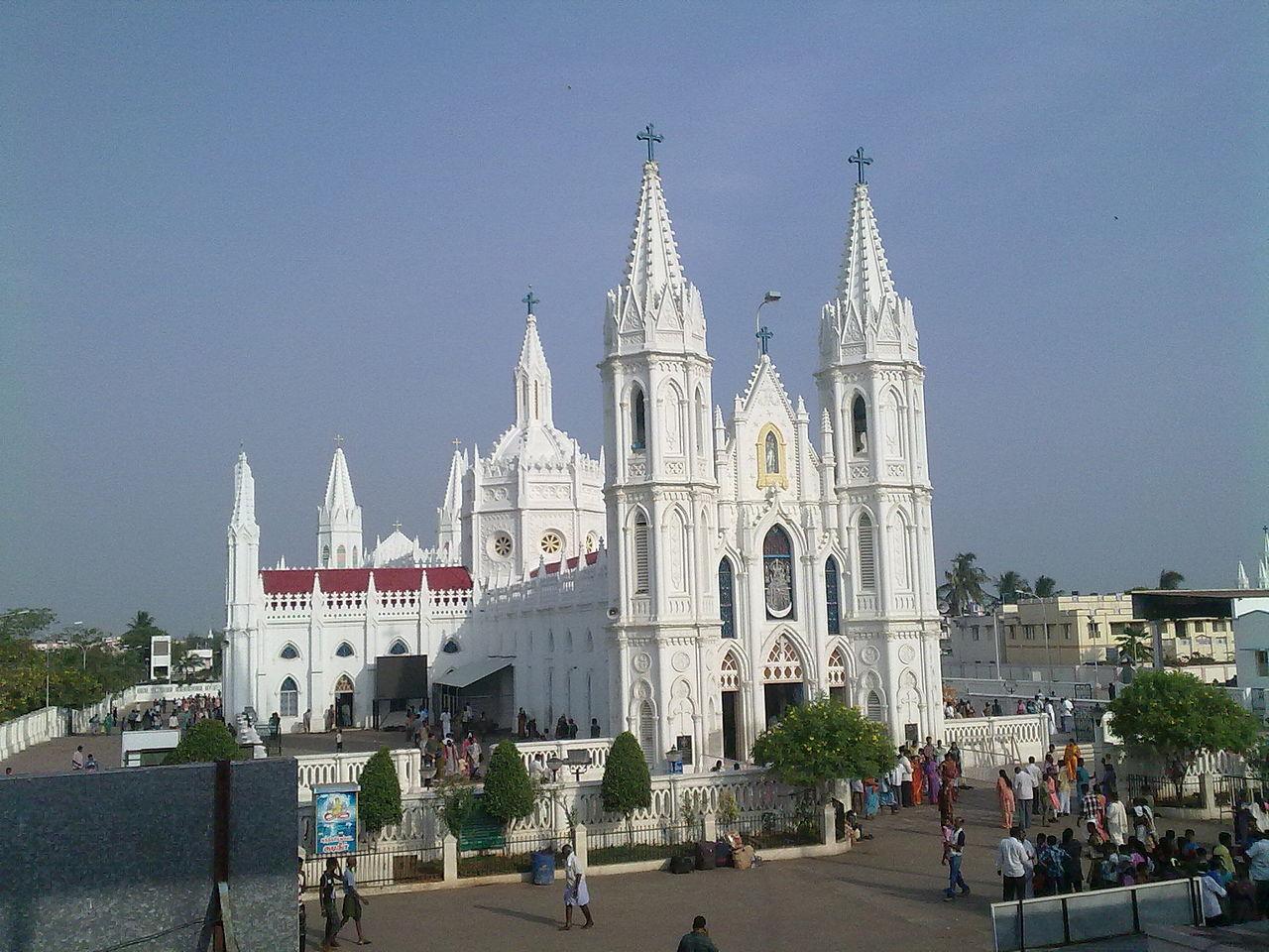 Architecture of the Velankanni Church, Velankanni, Tamil Nadu