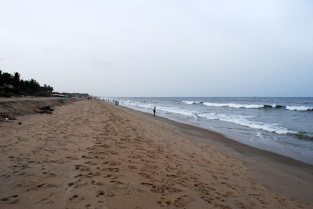 Auroville Beach in Puducherry, Tamil Nadu