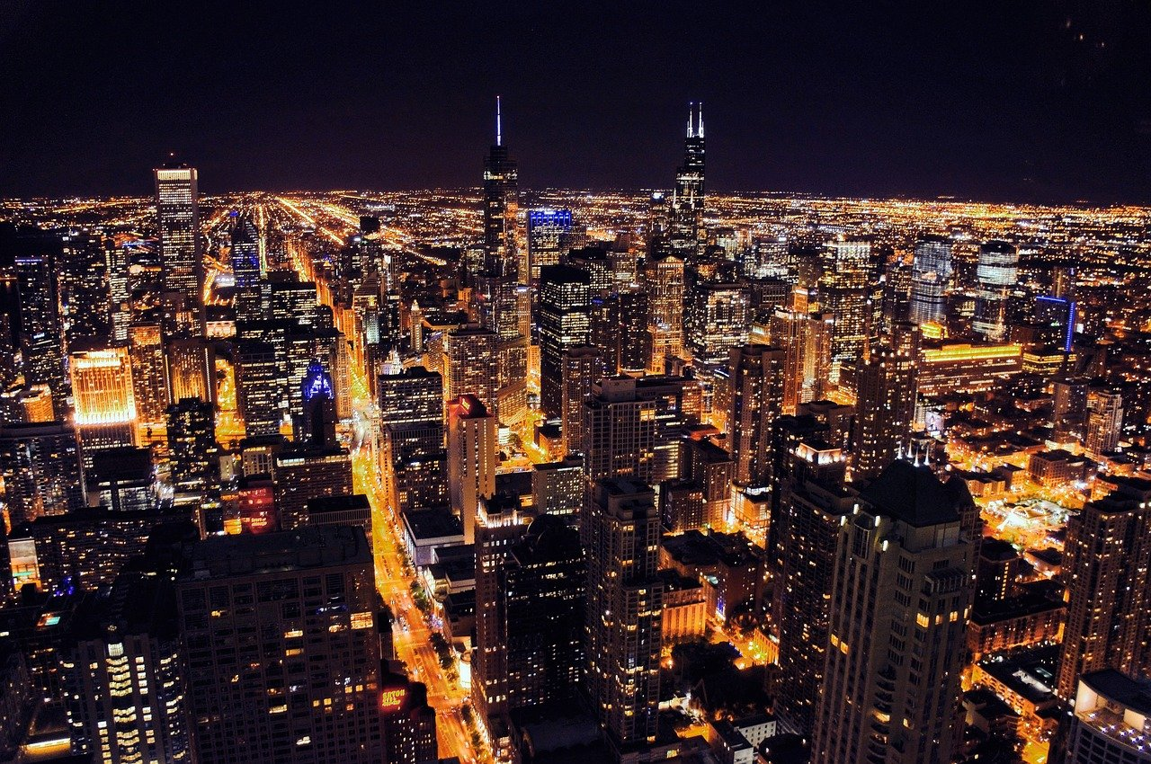 Birds-Eye View Of How Chicago Looks At Night - Popular Nightlife For Tourists In Chicago