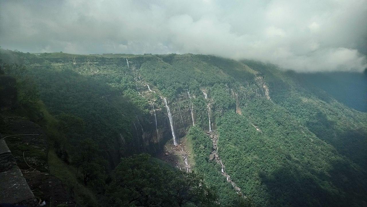 Amazing Weekend Getaways from Coochbehar-Cherrapunji, Seven Sister Falls