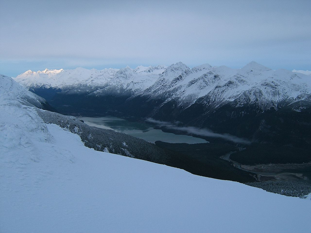 Popular Lake Of Alaska City-Chilkoot Lake