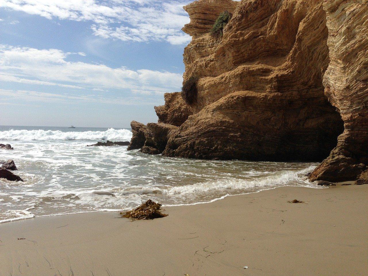 Famous Beach Near Disneyland and Anaheim-Crystal Cove Beach