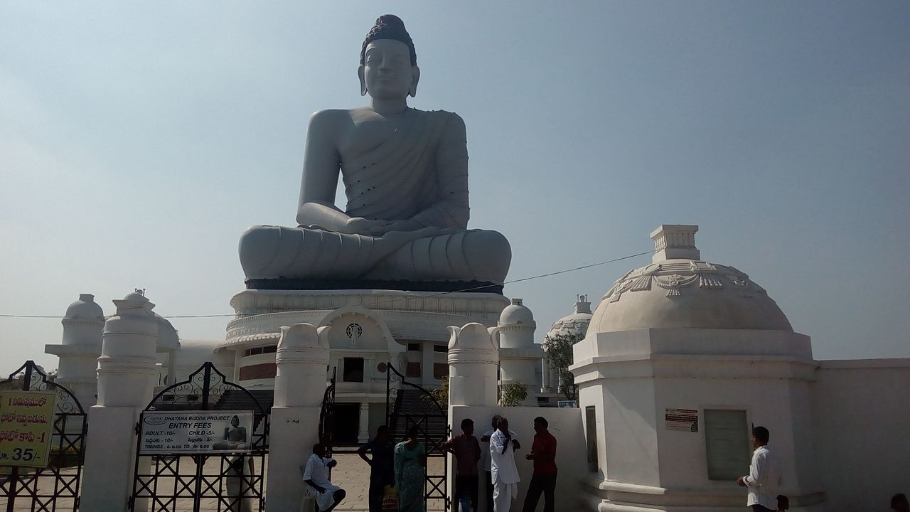 Place To Visit In Amaravathi-Dhyana Buddha Statue