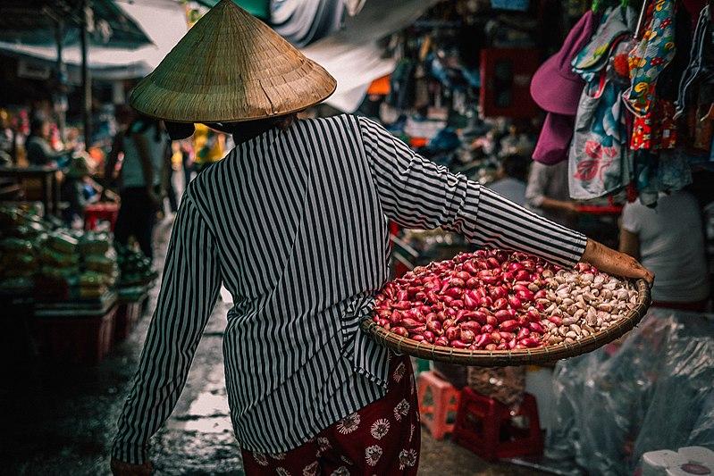 Shopping Market in Vietnam-Dong Ba Market
