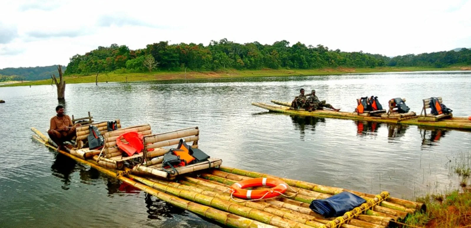 Go For Bamboo Rafting at Kuruva Island - Things Which One Must Not Miss in Wayanad