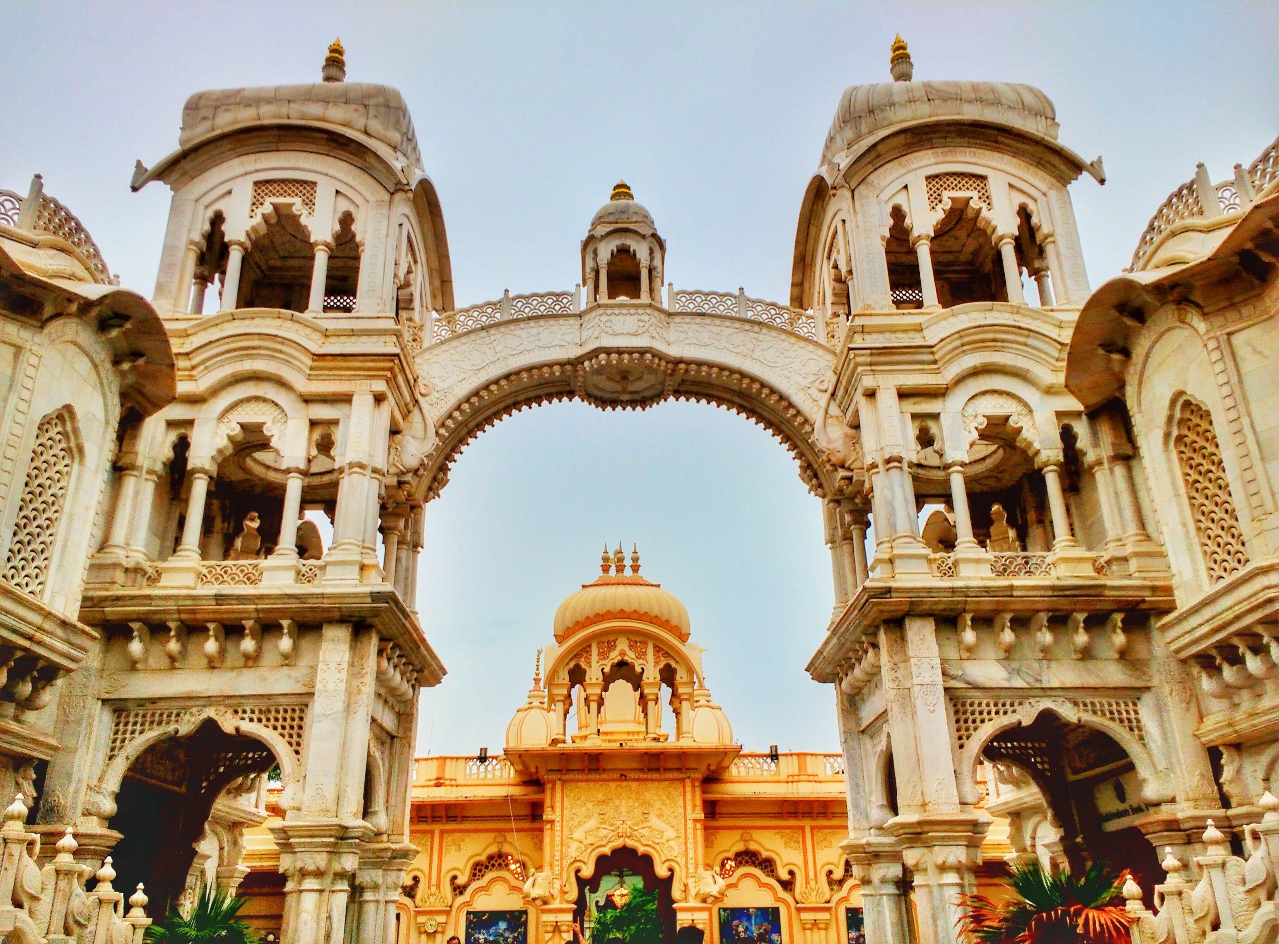 Popular Temple in Vrindavan - ISKCON Temple