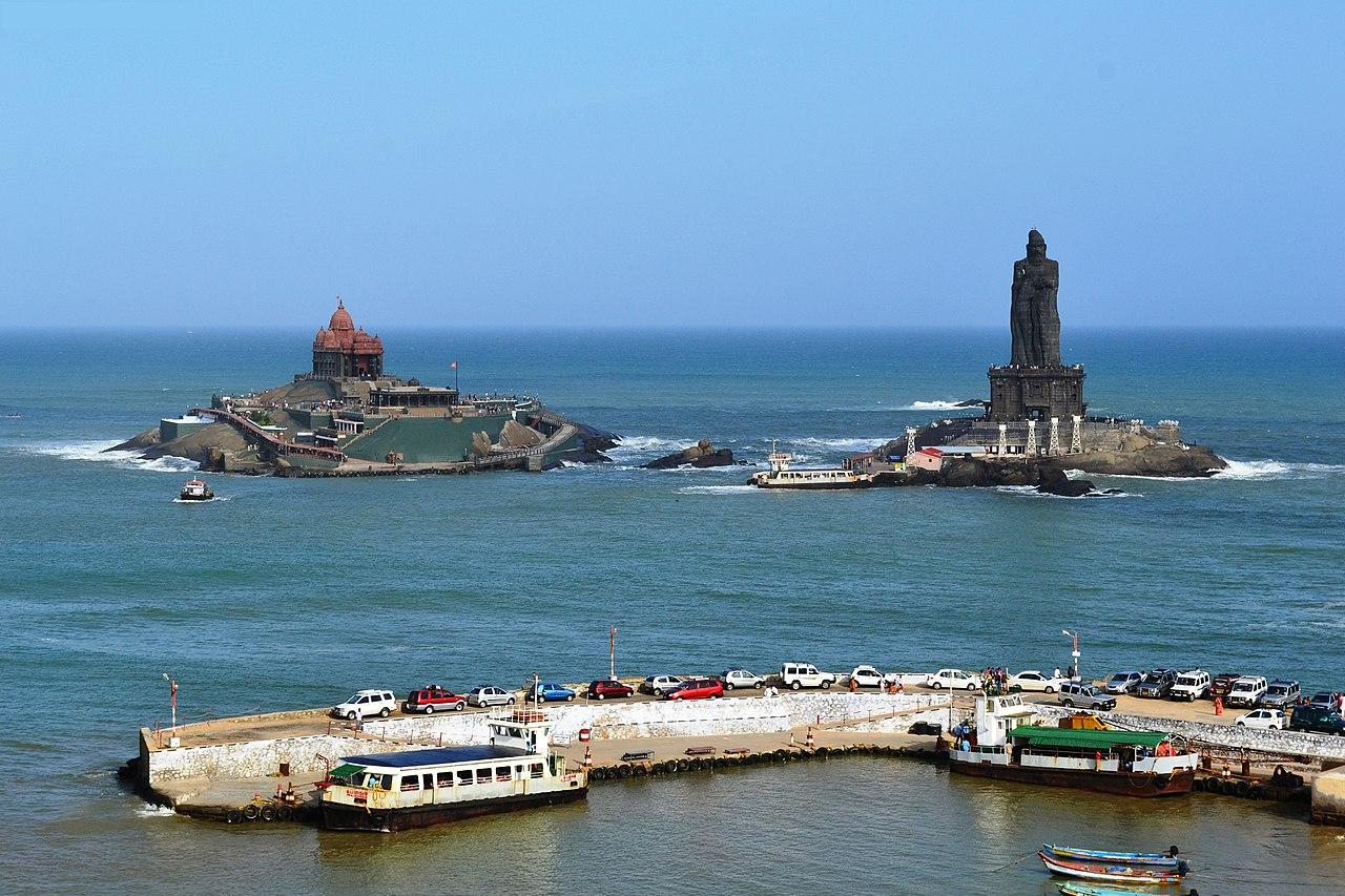 Incredible Historical Place In Tamil Nadu-Kanyakumari, Kanyakumari Temple & Vivekananda Rock Memorial