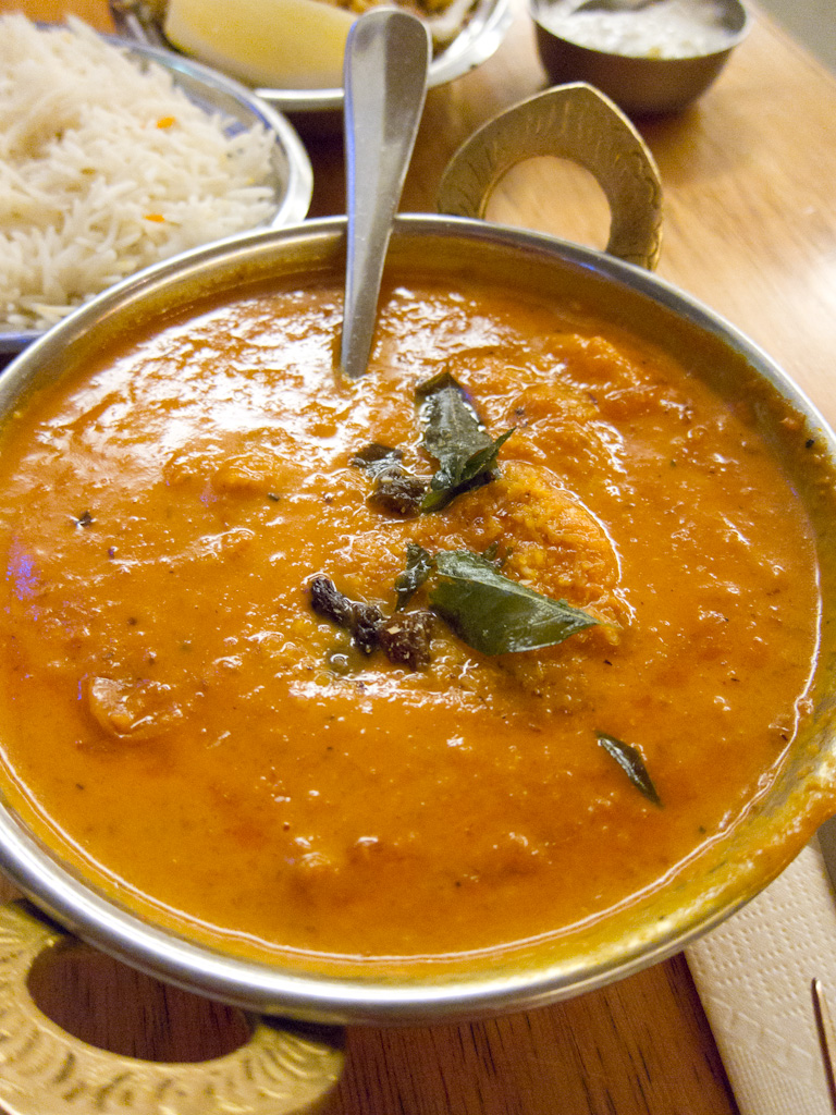 Foods and Dishes from Kerala-Kerala Style Prawn Curry