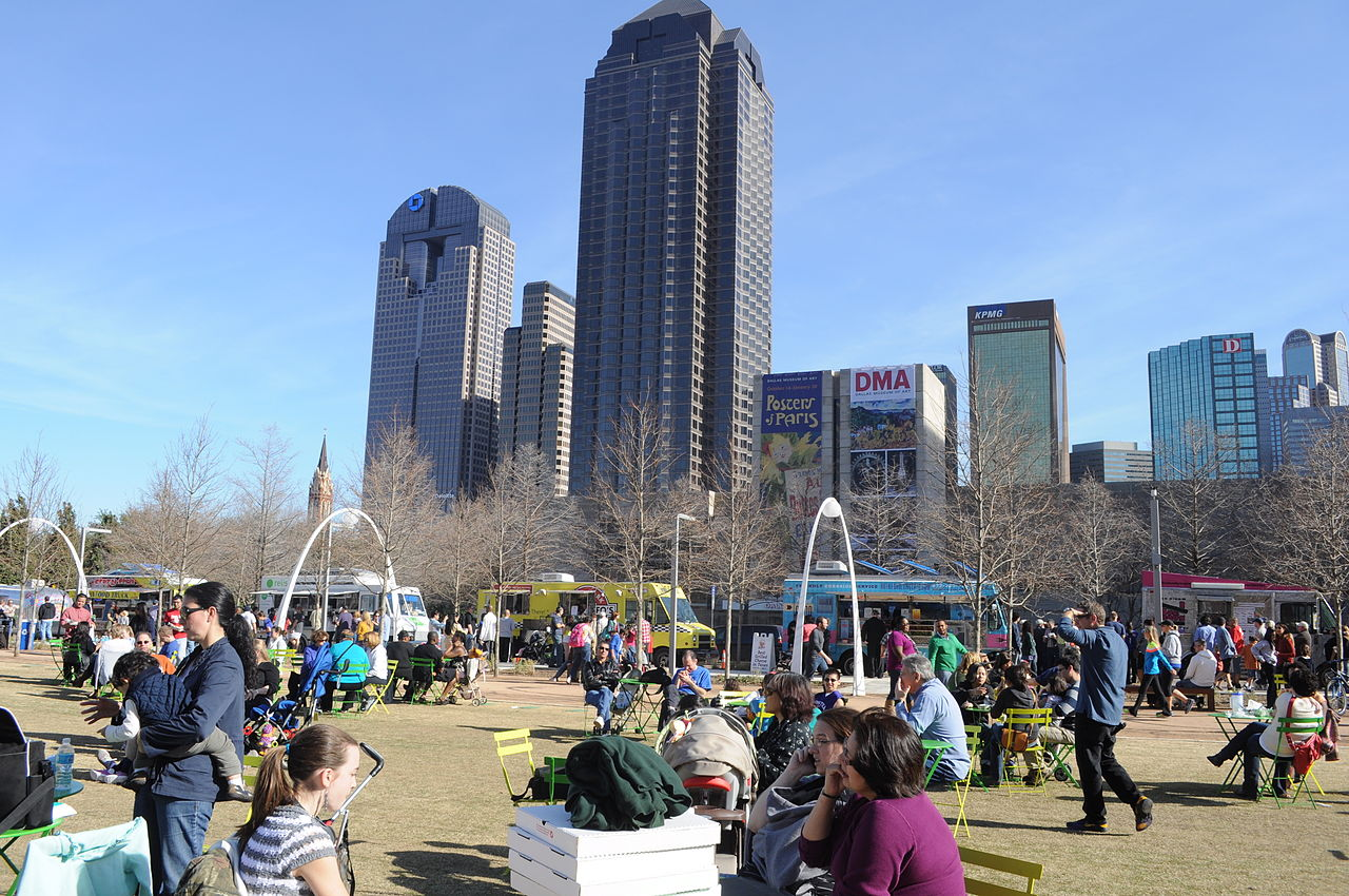 Klyde Warren Park - Popular Park and Botanical Garden of Dallas City