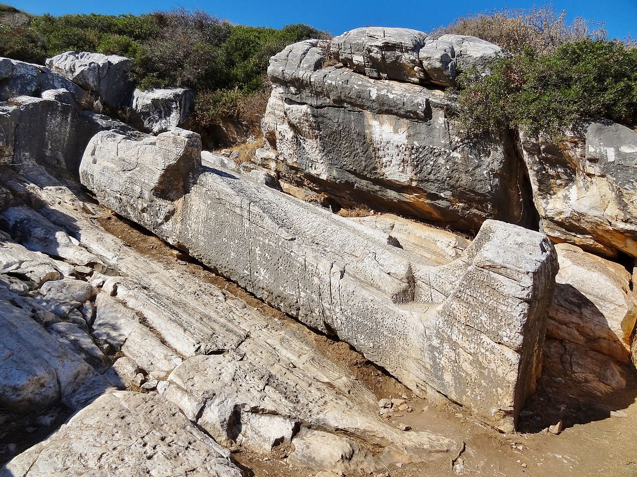 Must Visit Place in Naxos Island-Kouros of Apollonas