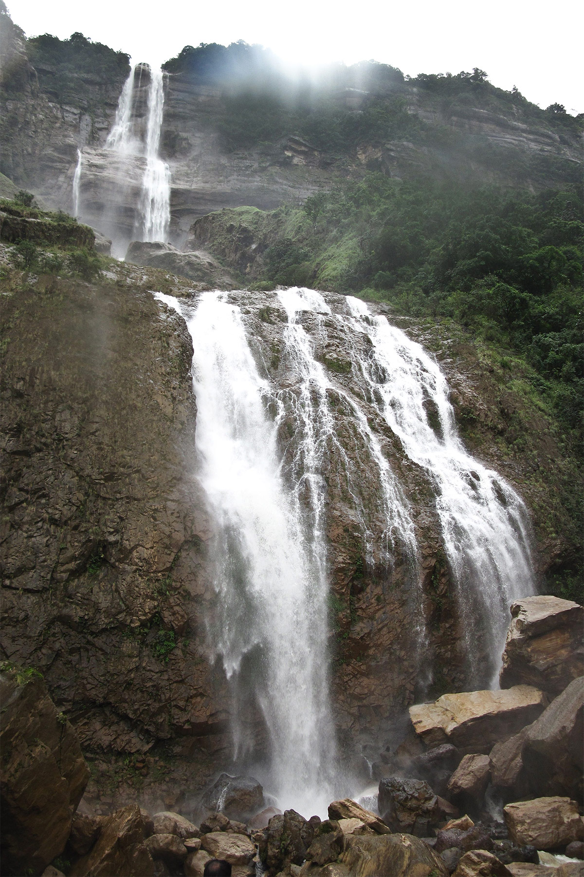 Tourist Attraction To Visit Nearby Nohsngithiang Waterfalls Or Seven Sisters Waterfall-Kynrem Waterfalls