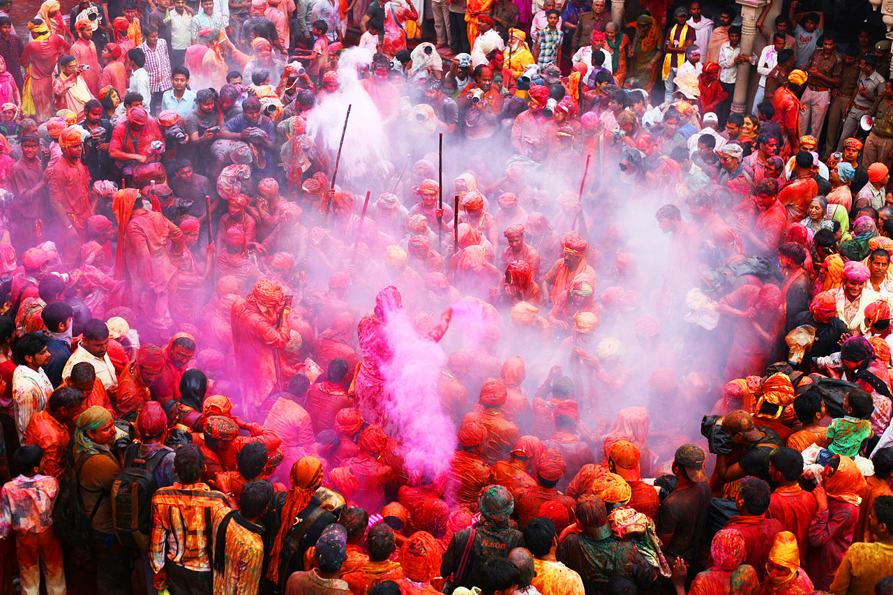 Most Attraction Celebrated Festival In Uttar Pradesh-Lath Maar Holi