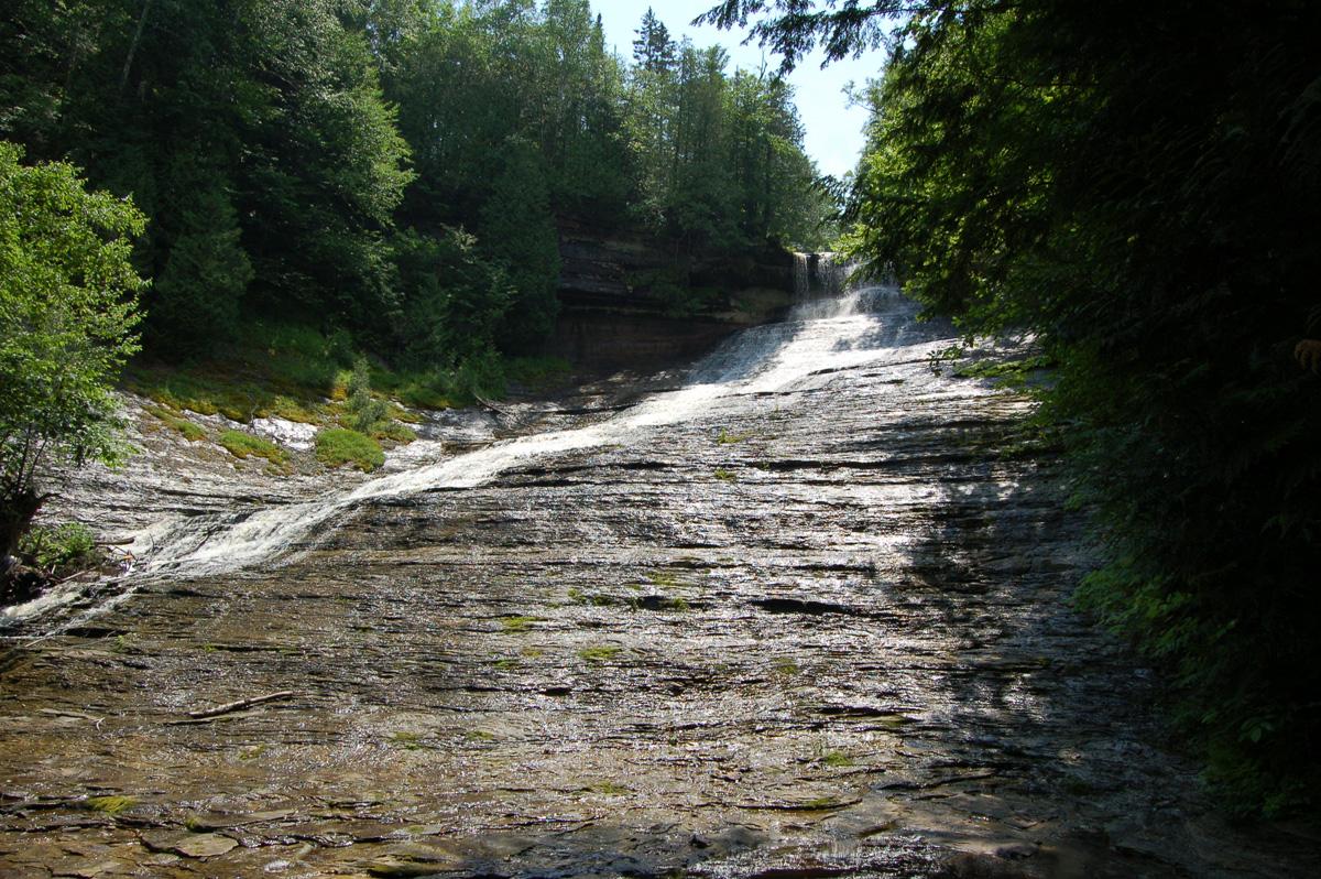 Amazing to Visit Waterfalls in Michigan-Laughing Whitefish Falls