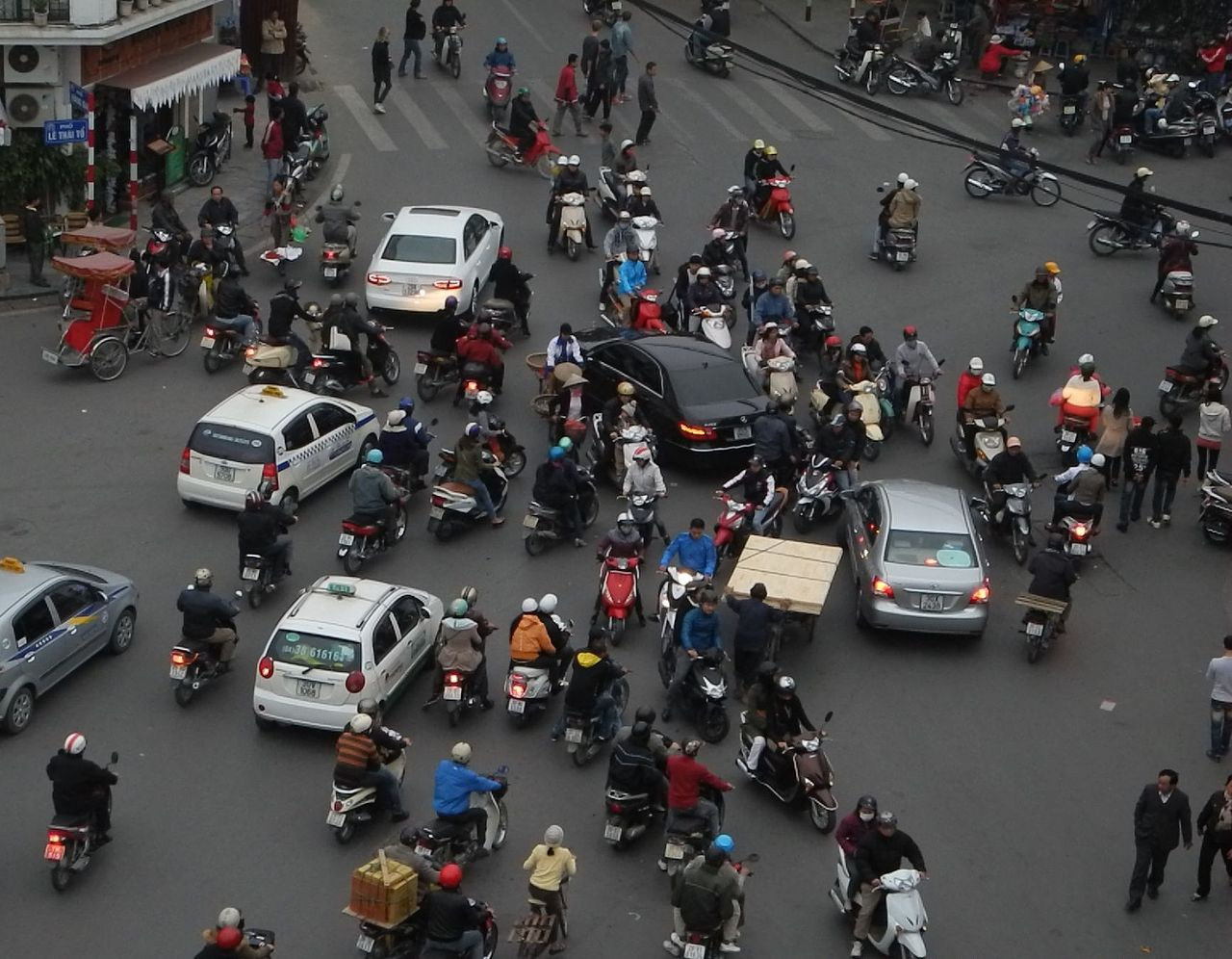 Learn How to Cross a Road in Hanoi