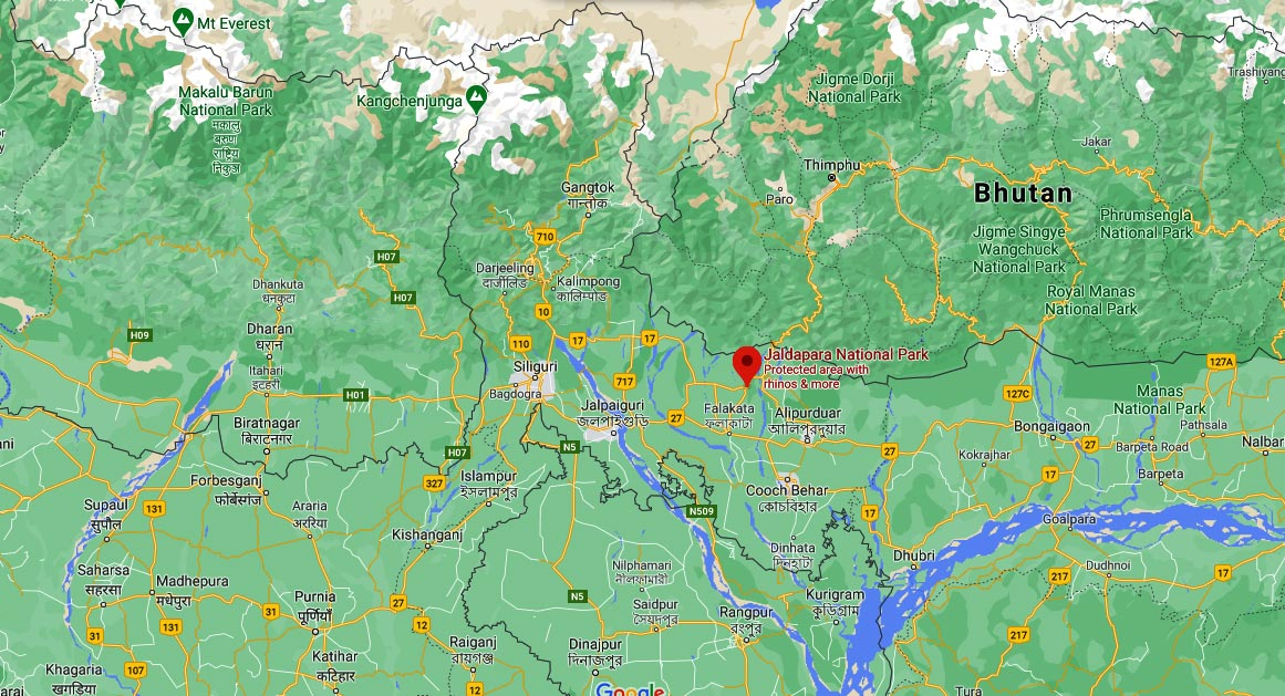 Where Is The Location Of Jaldapara National Park?