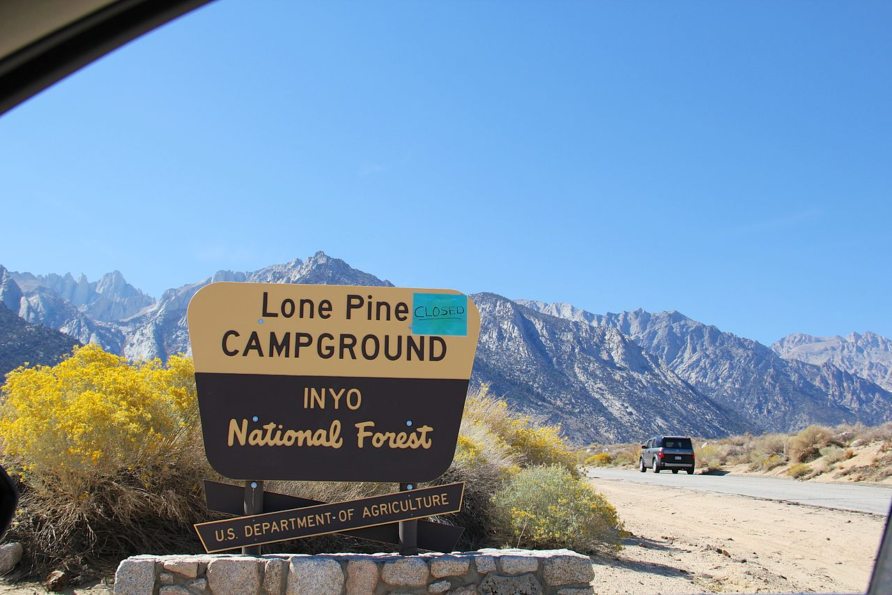 Camp at the Lone Pine Campgrounds, Lone Pine