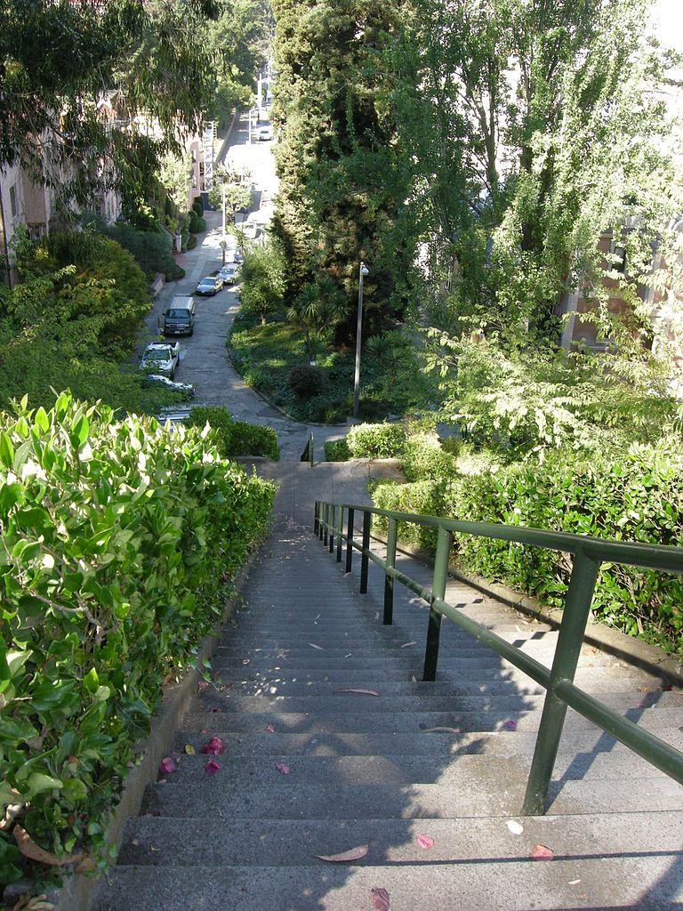 Best Visiting Place In California-Lyon Street Stairs