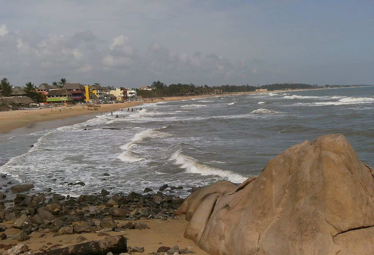 Mahabalipuram Beach in Mahabalipuram