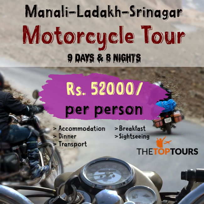 Manali Ladakh Srinagar Motorcycle Tour