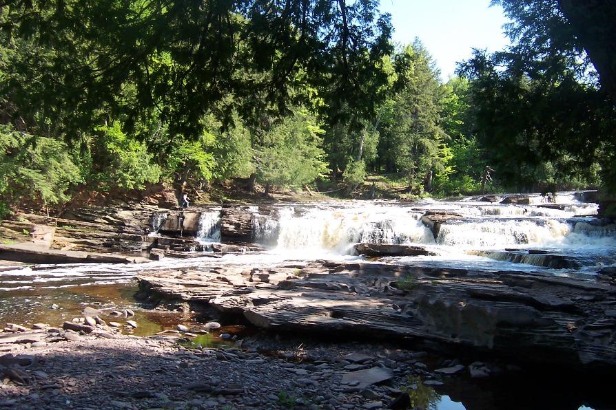 Nice Waterfalls in Michigan-Manido Falls