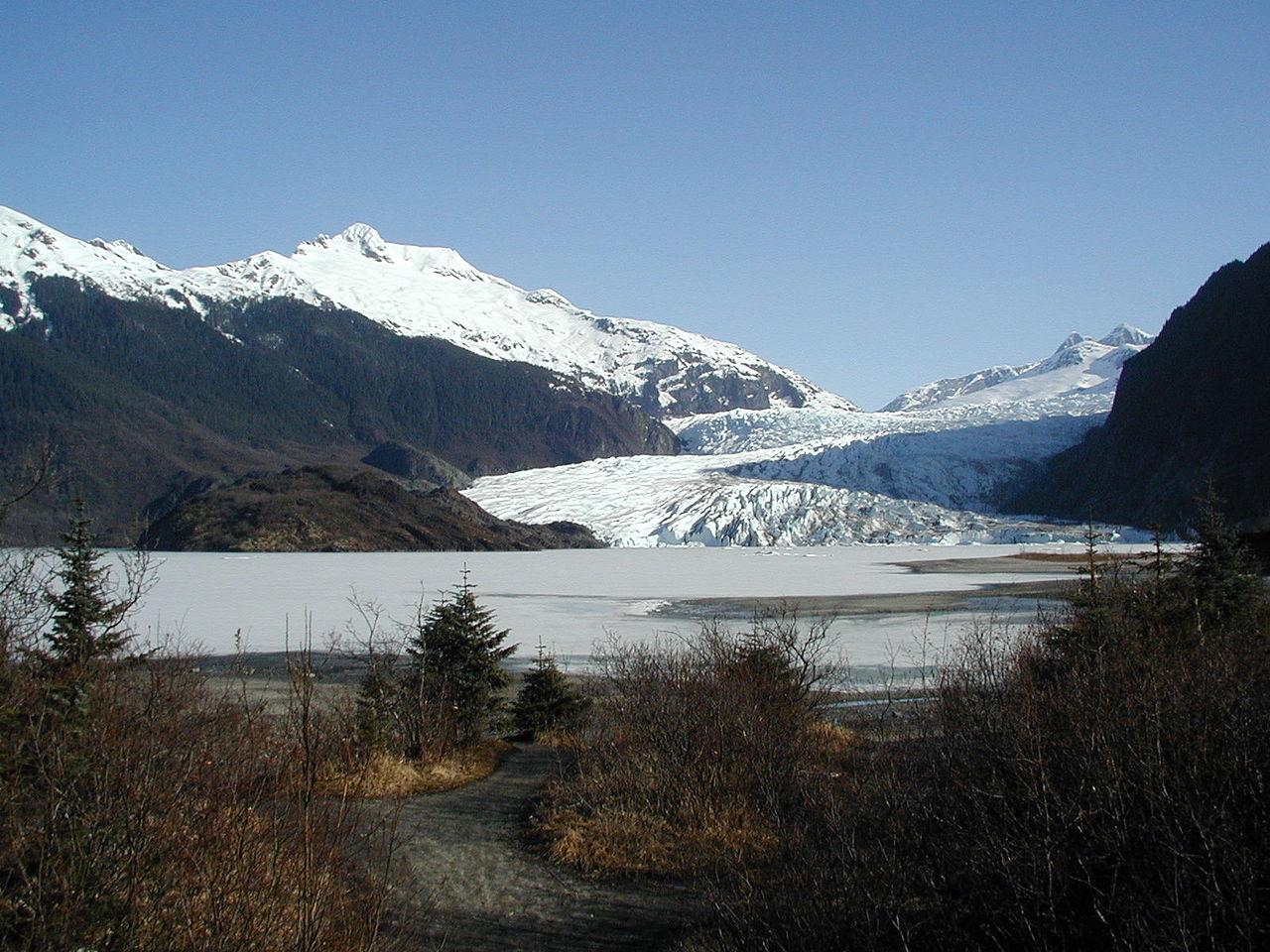 Famous Lake Of Alaska City-Mendenhall Lake