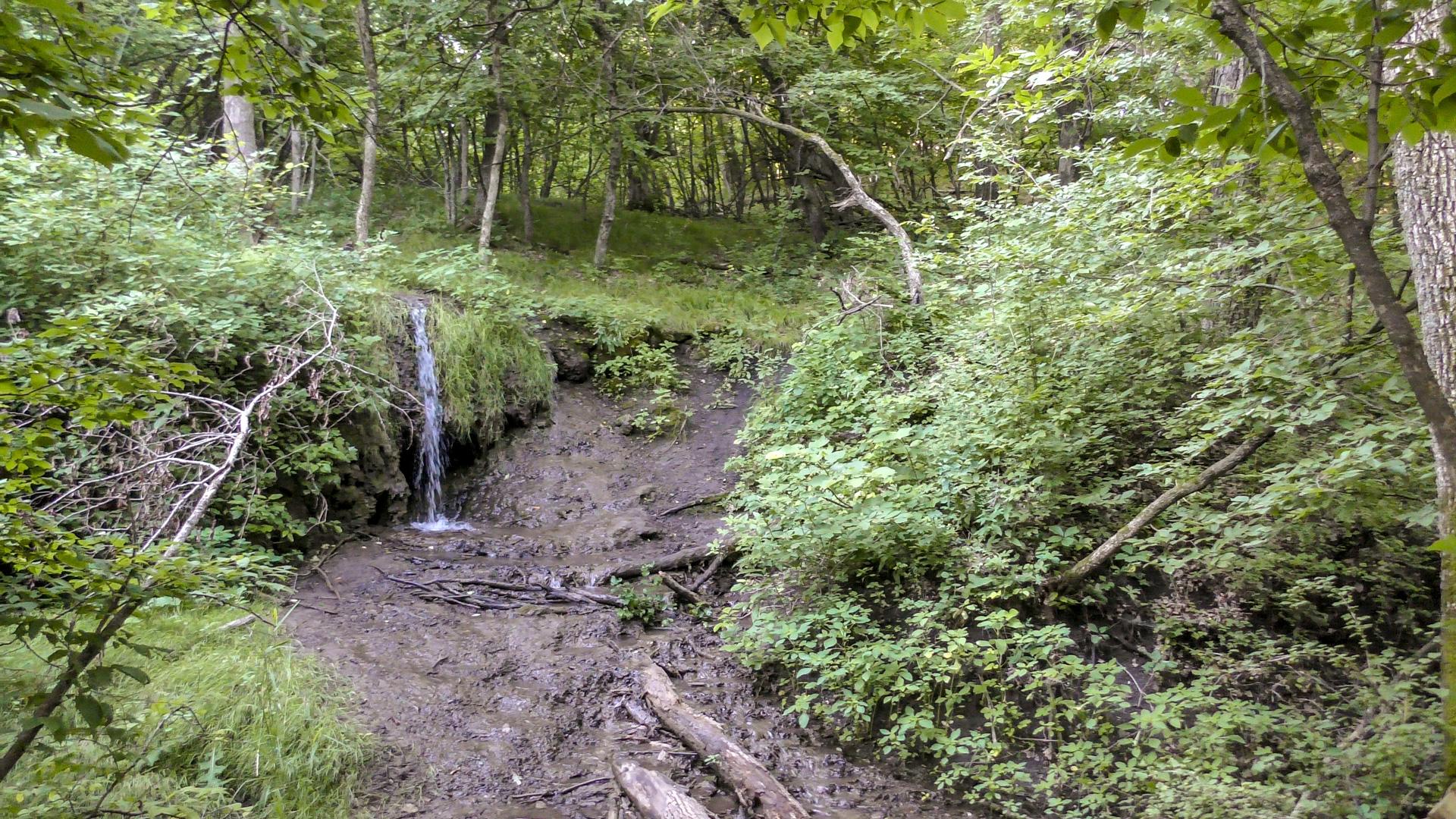 Mineral Springs Waterfall in North Dakota