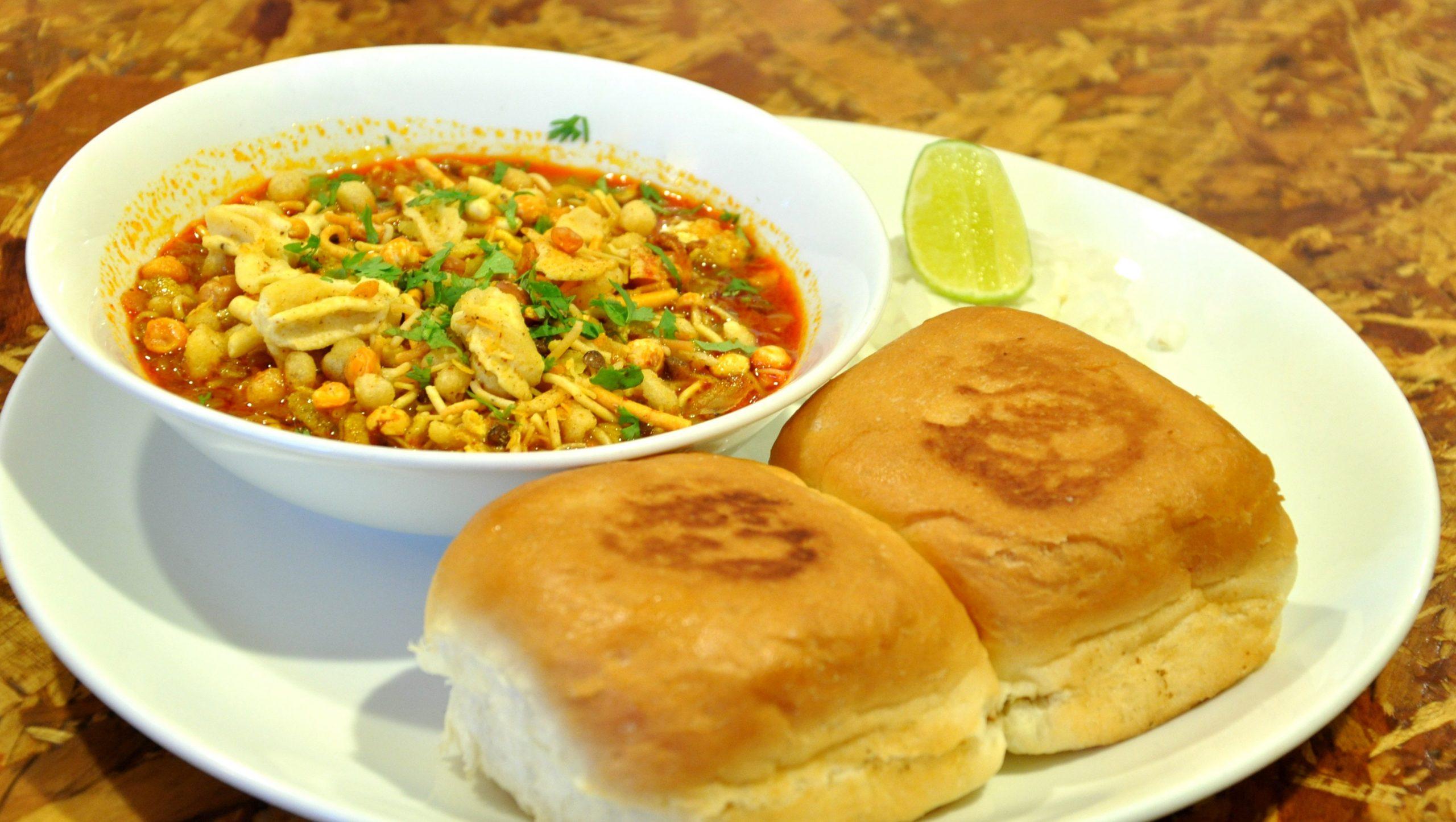 Misal Pav at Aswaad Must-Visit Street Food Joints in Mumbai