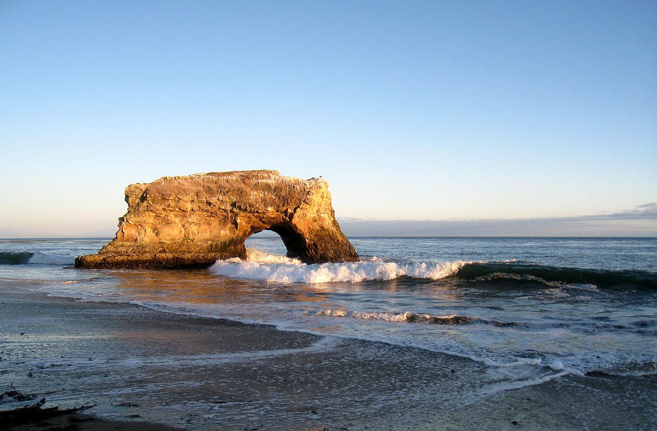 Nice Beach in California-Natural Bridges State Beach