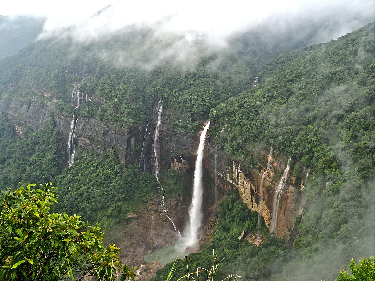 Amazing Place To Visit Near Thangkharang Park-Nohkalikai Waterfalls